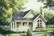 Cottage Style House Plan - 2 Beds 2 Baths 1084 Sq/Ft Plan #57-194