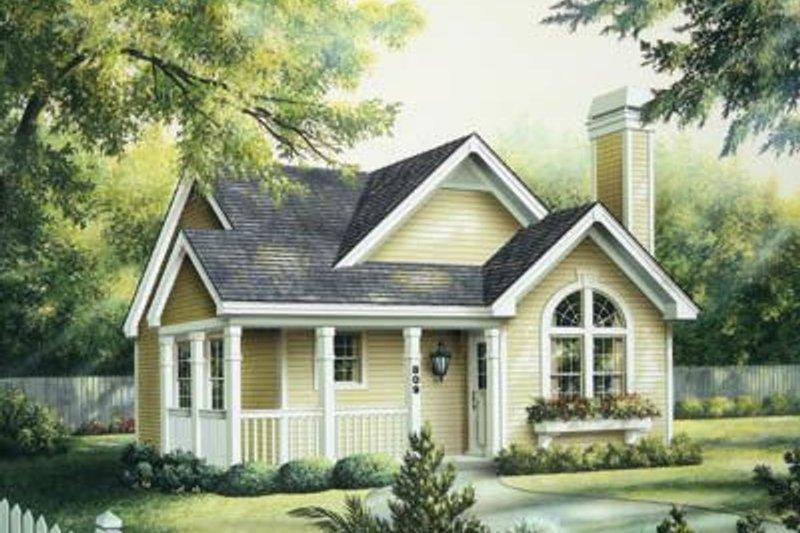 Cottage Exterior - Front Elevation Plan #57-194 - Houseplans.com
