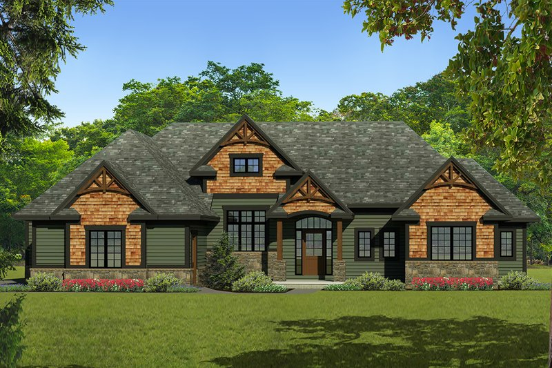 Ranch Exterior - Front Elevation Plan #1010-241