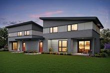Architectural House Design - Contemporary Exterior - Rear Elevation Plan #48-1026