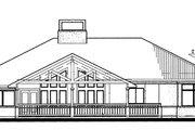 Prairie Style House Plan - 3 Beds 2 Baths 1830 Sq/Ft Plan #120-150 Exterior - Rear Elevation