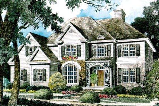 Traditional Exterior - Front Elevation Plan #429-26