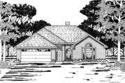 Traditional Style House Plan - 3 Beds 2 Baths 1182 Sq/Ft Plan #42-183 Exterior - Front Elevation