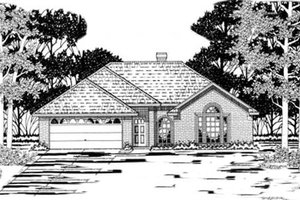 Traditional Exterior - Front Elevation Plan #42-183