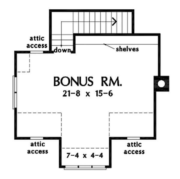 Farmhouse Floor Plan - Upper Floor Plan Plan #929-1095