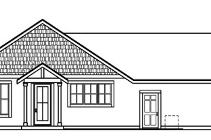Ranch Exterior - Rear Elevation Plan #124-720 - Houseplans.com
