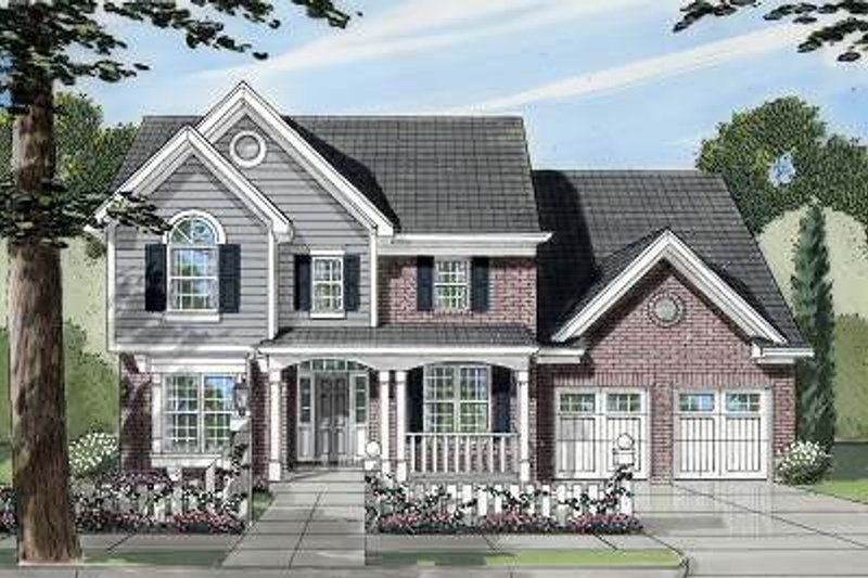 Traditional Exterior - Front Elevation Plan #46-396 - Houseplans.com