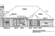 Traditional Style House Plan - 4 Beds 3 Baths 2197 Sq/Ft Plan #310-933 Exterior - Rear Elevation