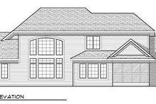 Dream House Plan - Bungalow Exterior - Rear Elevation Plan #70-922