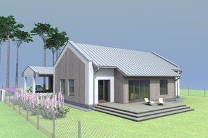 Modern Exterior - Front Elevation Plan #549-26