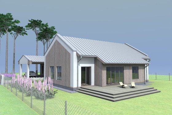 Modern Exterior - Front Elevation Plan #549-26