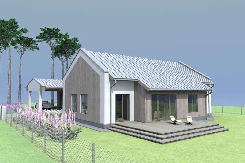 Modern Style House Plan - 3 Beds 2 Baths 1450 Sq/Ft Plan #549-26 Exterior - Front Elevation