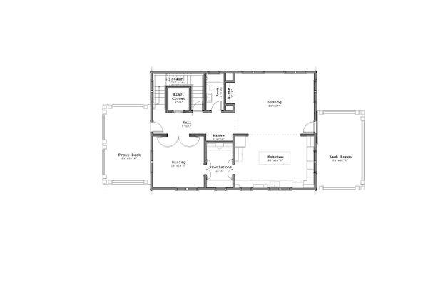 Craftsman Floor Plan - Main Floor Plan Plan #926-5