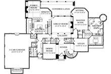 European Floor Plan - Main Floor Plan Plan #453-49