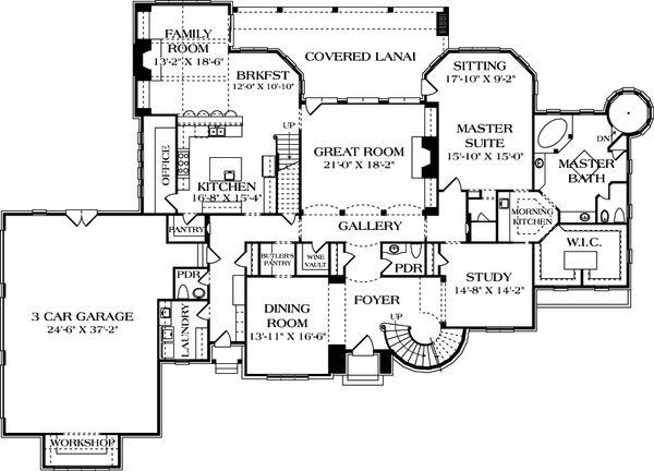 European Floor Plan - Main Floor Plan #453-49