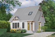 Craftsman Style House Plan - 3 Beds 1.5 Baths 1236 Sq/Ft Plan #23-2092 Exterior - Front Elevation