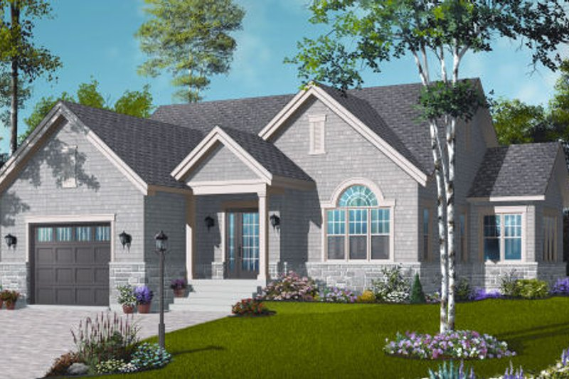 Cottage Exterior - Front Elevation Plan #23-2280