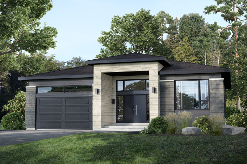 House Plan Design - Contemporary Exterior - Front Elevation Plan #25-4887
