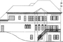 Colonial Exterior - Rear Elevation Plan #119-112