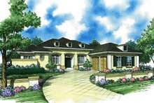 Architectural House Design - Ranch Exterior - Front Elevation Plan #930-490