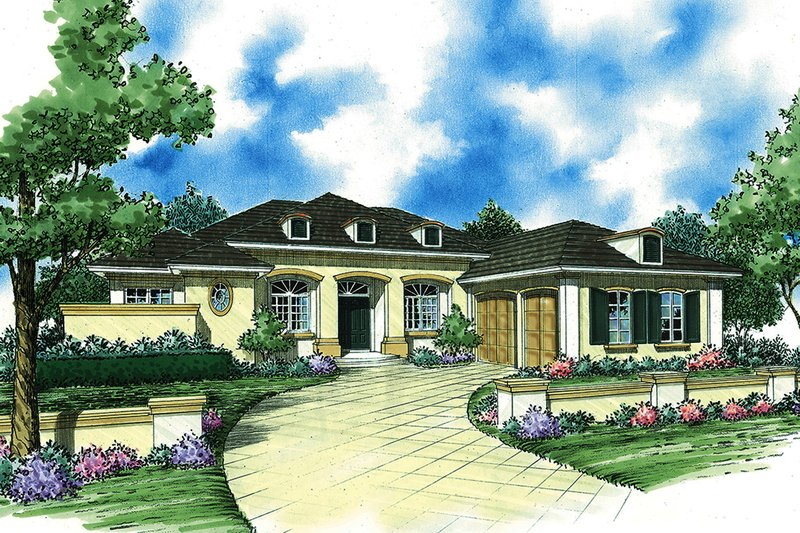 Ranch Exterior - Front Elevation Plan #930-490