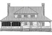 Country Style House Plan - 3 Beds 2.5 Baths 2207 Sq/Ft Plan #81-101 Exterior - Rear Elevation