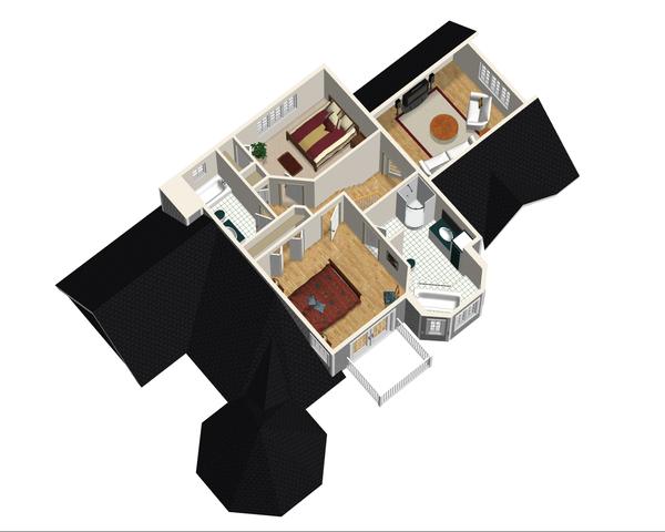 Victorian Floor Plan - Upper Floor Plan Plan #25-4742
