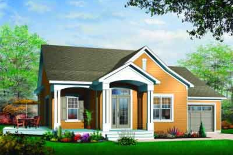 Country Exterior - Front Elevation Plan #23-560 - Houseplans.com