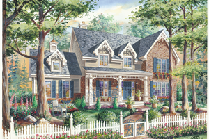 Country Exterior - Front Elevation Plan #25-4764