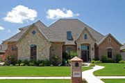European Style House Plan - 4 Beds 3.5 Baths 2760 Sq/Ft Plan #310-275 Exterior - Front Elevation