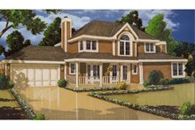 Country Exterior - Front Elevation Plan #3-243