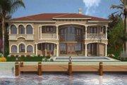 Mediterranean Style House Plan - 5 Beds 6.5 Baths 5743 Sq/Ft Plan #420-178 Exterior - Rear Elevation
