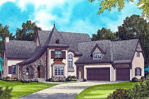 Architectural House Design - European Exterior - Front Elevation Plan #413-133