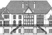 European Style House Plan - 5 Beds 5.5 Baths 6970 Sq/Ft Plan #119-166 Exterior - Rear Elevation
