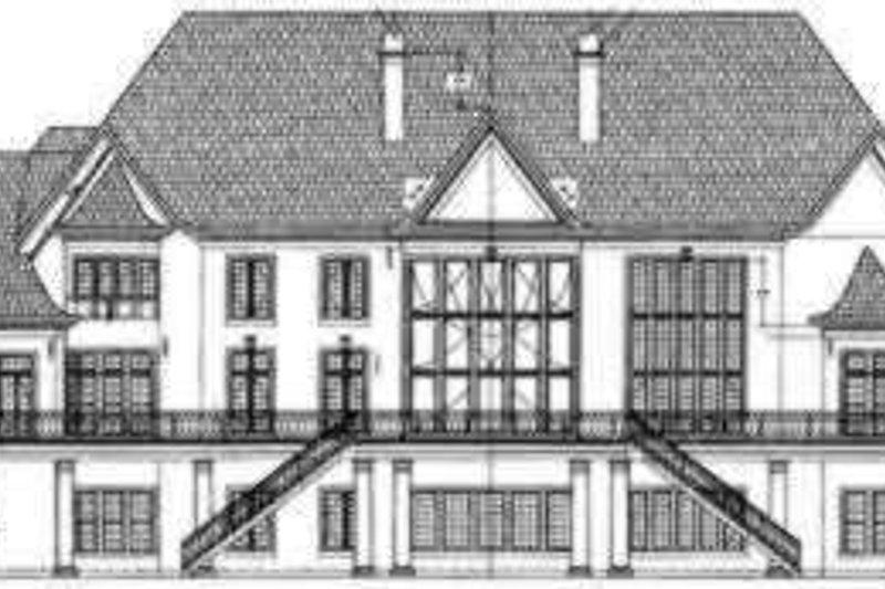 European Exterior - Rear Elevation Plan #119-166 - Houseplans.com