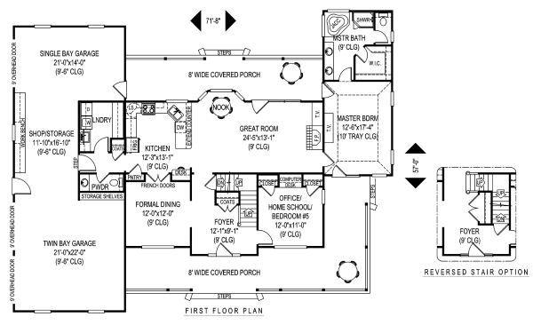 Country Floor Plan - Main Floor Plan Plan #11-231