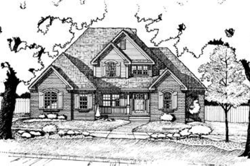 Dream House Plan - Traditional Exterior - Front Elevation Plan #20-1031