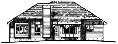 Traditional Exterior - Rear Elevation Plan #20-138 - Houseplans.com