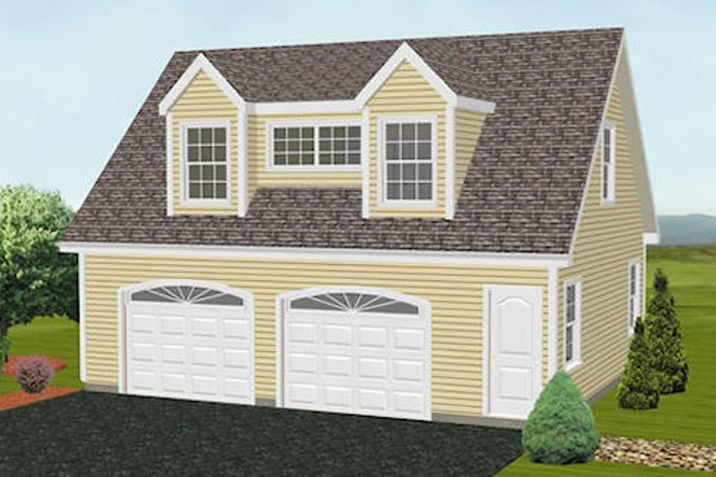 Traditional Style House Plan - 1 Beds 1 Baths 1324 Sq/Ft Plan #75-196 Exterior - Front Elevation