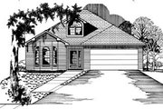 Colonial Style House Plan - 3 Beds 2 Baths 1304 Sq/Ft Plan #15-101 Exterior - Front Elevation