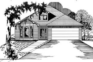Colonial Exterior - Front Elevation Plan #15-101