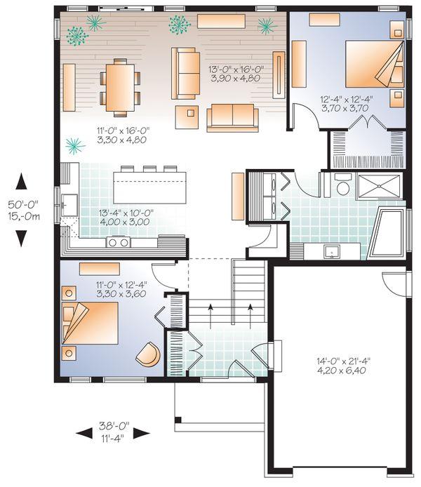 Dream House Plan - Craftsman Floor Plan - Main Floor Plan #23-2305