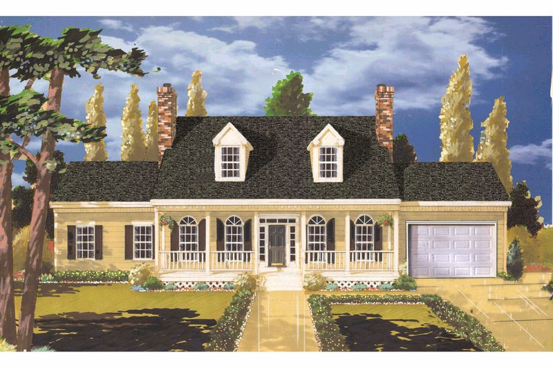 Home Plan - Traditional Exterior - Front Elevation Plan #3-211
