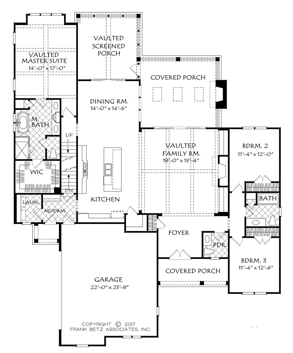 Country style house plan 3 beds 2 5 baths 2205 sq ft for Country style floor plans