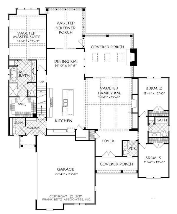 Country Floor Plan - Main Floor Plan #927-980