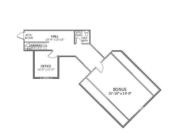 Traditional Floor Plan - Other Floor Plan Plan #898-16