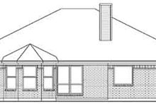 Dream House Plan - Southern Exterior - Rear Elevation Plan #84-227