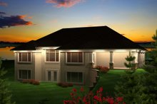 House Design - Ranch Exterior - Rear Elevation Plan #70-1128