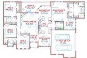European Style House Plan - 4 Beds 3 Baths 2577 Sq/Ft Plan #63-137 Floor Plan - Main Floor Plan