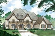 European Style House Plan - 4 Beds 4.5 Baths 6001 Sq/Ft Plan #923-78 Exterior - Front Elevation